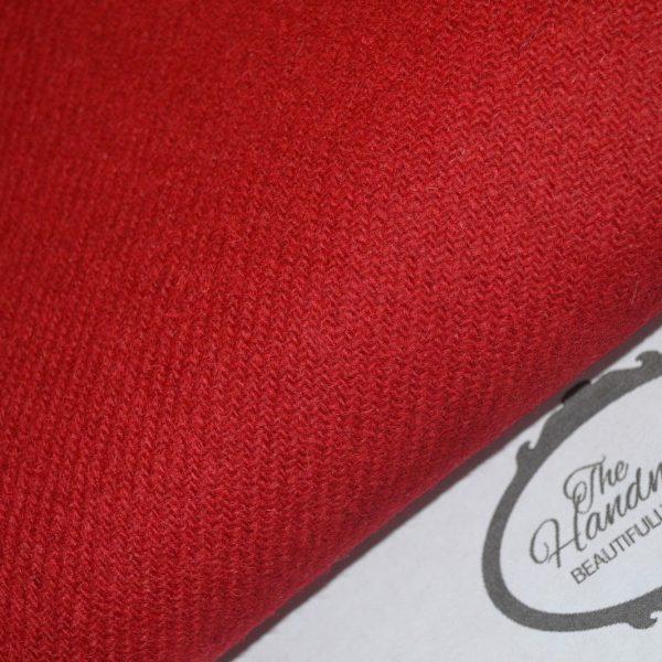 Harris Tweed Fabric Labels Red