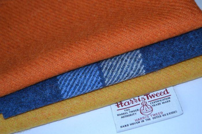 HARRIS TWEED FABRIC BUNDLES 100/% wool craft quilting patchwork tartan Scotland 4