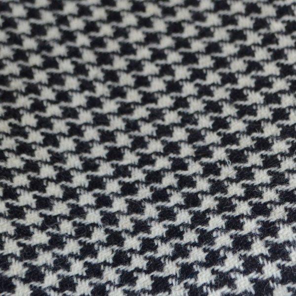 Harris Tweed Fabric Labels Black White