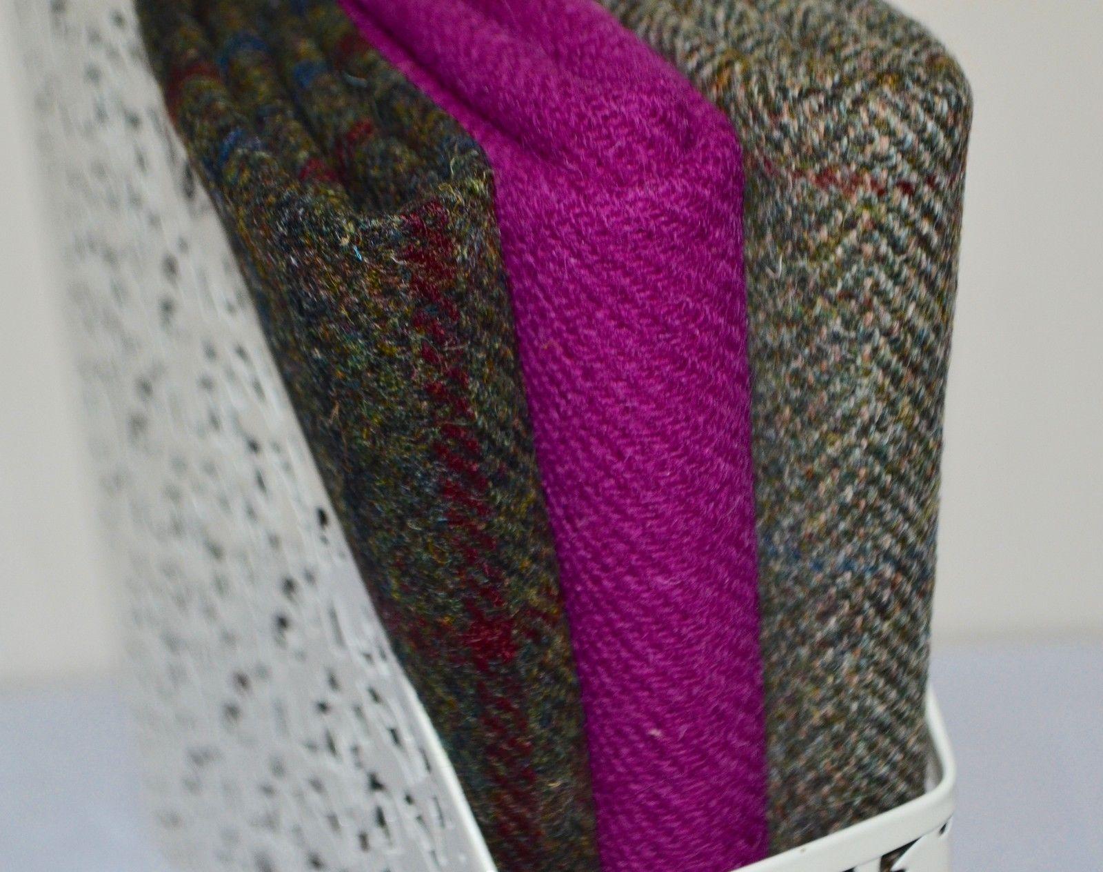 HARRIS TWEED FABRIC BUNDLES /' Traditional Range/' 4 SIZES LABELS /& TAGS craft sew